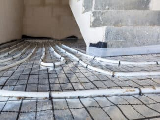 Fußbodenheizung im Eingangsbereich