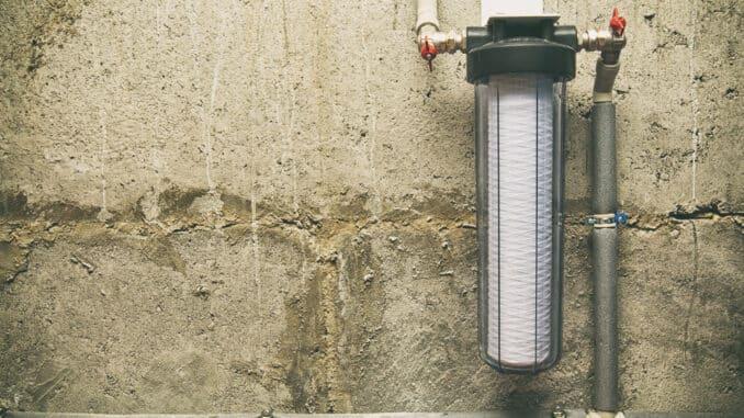 Hauswasserfilter im Keller