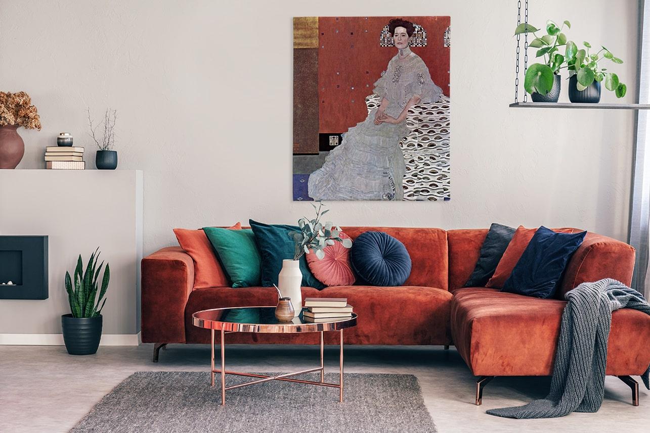 Künstlerisches Bild im Wohnzimmer