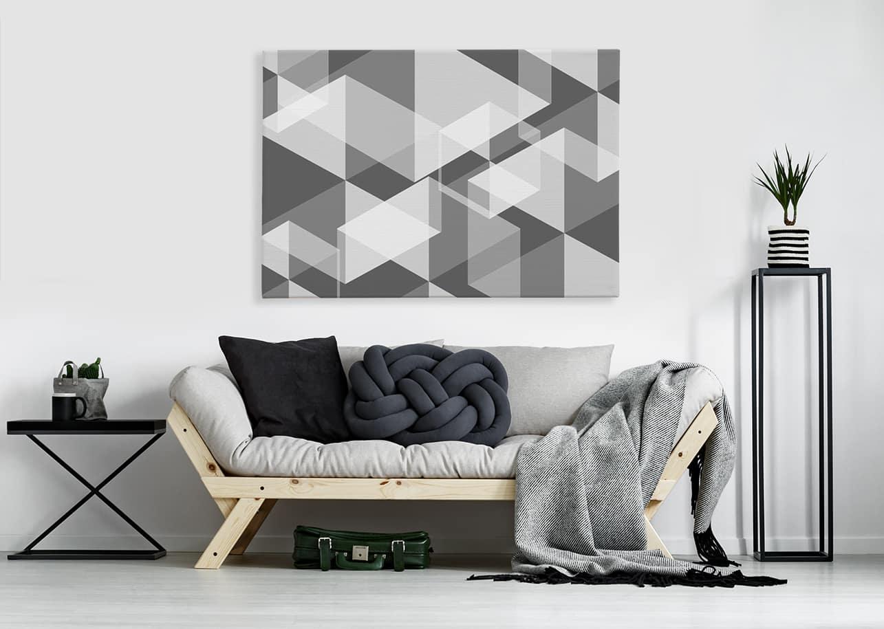 Geometrisches Bild im Wohnzimmer